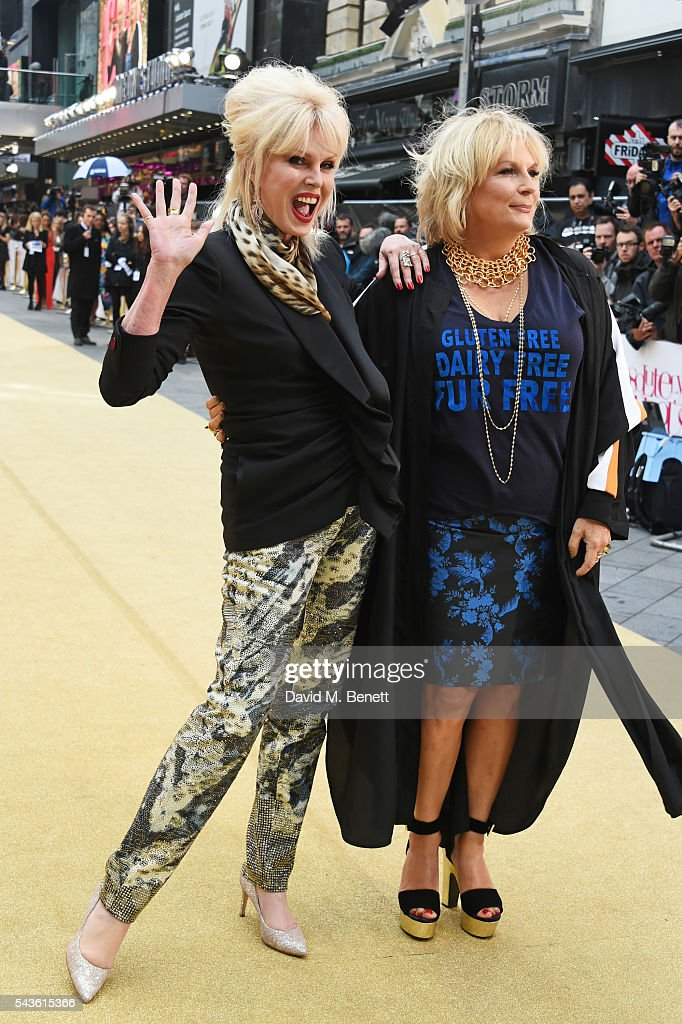 <a gi-track='captionPersonalityLinkClicked' href=/galleries/search?phrase=Joanna+Lumley&family=editorial&specificpeople=206307 ng-click='$event.stopPropagation()'>Joanna Lumley</a> (L) and <a gi-track='captionPersonalityLinkClicked' href=/galleries/search?phrase=Jennifer+Saunders&family=editorial&specificpeople=210714 ng-click='$event.stopPropagation()'>Jennifer Saunders</a> attend the World Premiere of 'Absolutely Fabulous: The Movie' at Odeon Leicester Square on June 29, 2016 in London, England.