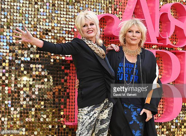 Joanna Lumley and Jennifer Saunders attend the World Premiere of 'Absolutely Fabulous The Movie' at Odeon Leicester Square on June 29 2016 in London...