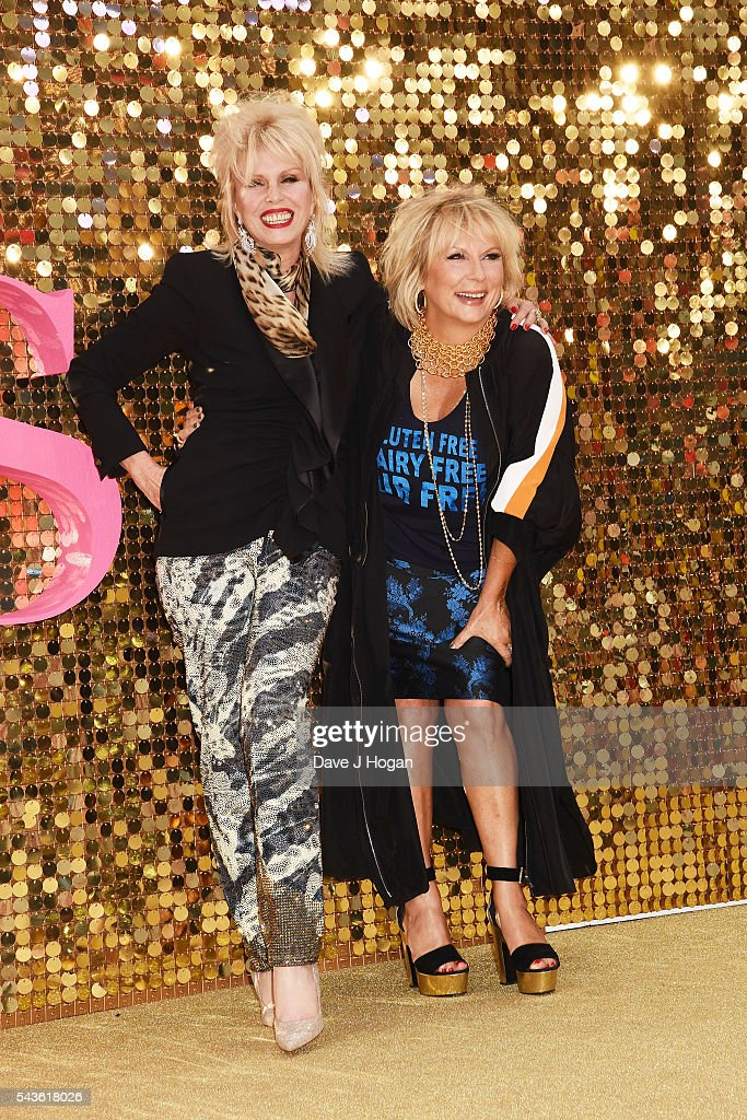 <a gi-track='captionPersonalityLinkClicked' href=/galleries/search?phrase=Joanna+Lumley&family=editorial&specificpeople=206307 ng-click='$event.stopPropagation()'>Joanna Lumley</a> (L) and <a gi-track='captionPersonalityLinkClicked' href=/galleries/search?phrase=Jennifer+Saunders&family=editorial&specificpeople=210714 ng-click='$event.stopPropagation()'>Jennifer Saunders</a> attends the World Premiere of 'Absolutely Fabulous: The Movie' at Odeon Leicester Square on June 29, 2016 in London, England.