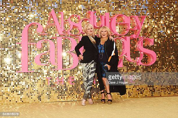 Joanna Lumley and Jennifer Saunders attends the World Premiere of 'Absolutely Fabulous The Movie' at Odeon Leicester Square on June 29 2016 in London...