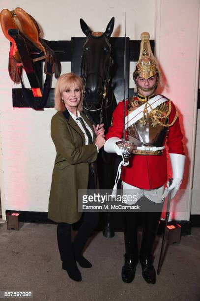 Joanna Lumley and Lance Corporal Robert Hockey attend War Horse 'The Story In Concert' special evening at The Household Cavalry Museum on October 4...