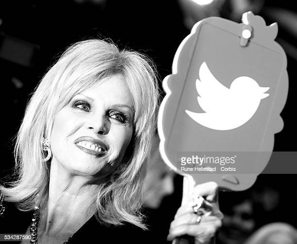 Joanna Lumley arrives for European Premiere of 'Me Before You' at The Curzon Mayfair on May 25 2016 in London England