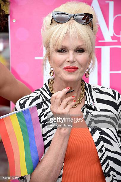 Joanna Lumley as Patsy star of 'Absolutely Fabulous The Movie' attends Pride on June 25 2016 in London England