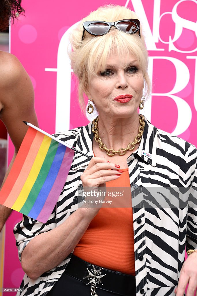 Joanna Lumley as Patsy, star of 'Absolutely Fabulous: The Movie' attends Pride on June 25, 2016 in London, England.