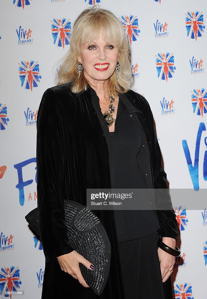 <a gi-track='captionPersonalityLinkClicked' href=/galleries/search?phrase=Joanna+Lumley&family=editorial&specificpeople=206307 ng-click='$event.stopPropagation()'>Joanna Lumley</a> attends the after party for the press night of 'Viva Forever', a musical based on the music of The Spice Girls at Victoria Embankment Gardens on December 11, 2012 in London, England.