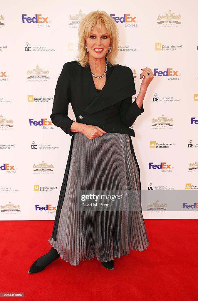 <a gi-track='captionPersonalityLinkClicked' href=/galleries/search?phrase=Joanna+Lumley&family=editorial&specificpeople=206307 ng-click='$event.stopPropagation()'>Joanna Lumley</a> attends the Duke of Edinburgh Award 60th Anniversary Diamonds are Forever Gala at Stoke Park on June 9, 2016 in Guildford, England.