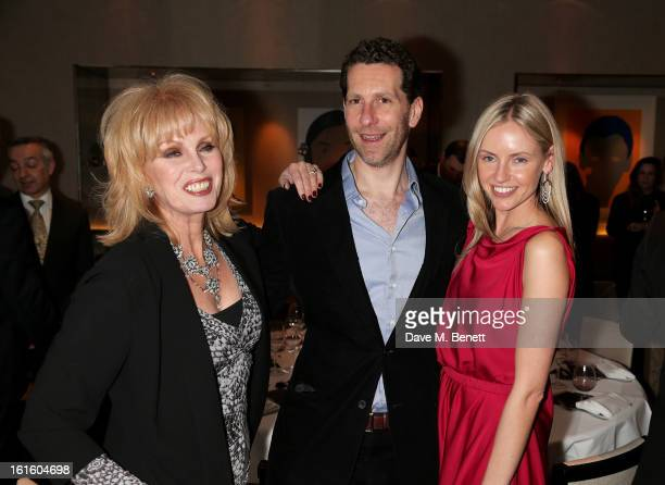 Joanna Lumley Marlon Abela and Nadya Abela attend the MARC Restaurants Truffle Dinner hosted by Marlon and Nadya Abela at Cassis Bistro on February...