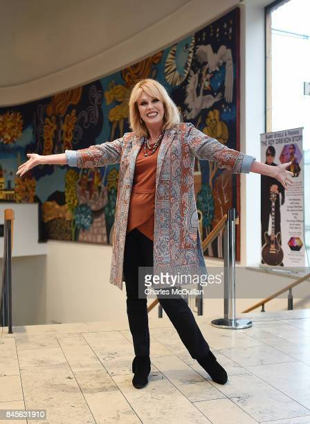 Joanna Lumley OBE pictured before she addressed a Children in Crossfire talk on September 11 2017 in Londonderry Northern Ireland The actor was...