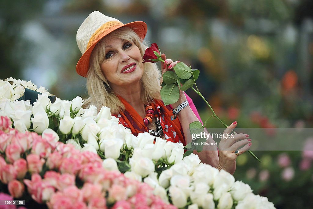 <a gi-track='captionPersonalityLinkClicked' href=/galleries/search?phrase=Joanna+Lumley&family=editorial&specificpeople=206307 ng-click='$event.stopPropagation()'>Joanna Lumley</a> poses during a photocall at the Chelsea Flower Show on May 20, 2013 in London, England. The Chelsea Flower Show run by the RHS celebrates its 100th birthday this year.