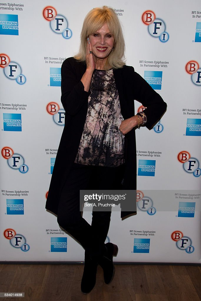 <a gi-track='captionPersonalityLinkClicked' href=/galleries/search?phrase=Joanna+Lumley&family=editorial&specificpeople=206307 ng-click='$event.stopPropagation()'>Joanna Lumley</a> poses for photographs ahead of introducing Ralph Thomas's adaptation of the classic Dickens novel A Tale of Two Cities during a screen epiphanies session at BFI Southbank on May 24, 2016 in London, England.