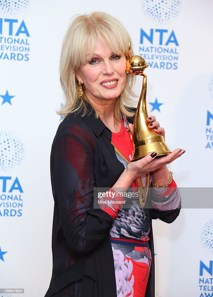 <a gi-track='captionPersonalityLinkClicked' href=/galleries/search?phrase=Joanna+Lumley&family=editorial&specificpeople=206307 ng-click='$event.stopPropagation()'>Joanna Lumley</a> poses in the winners room at the National Television Awards at 02 Arena on January 23, 2013 in London, England.