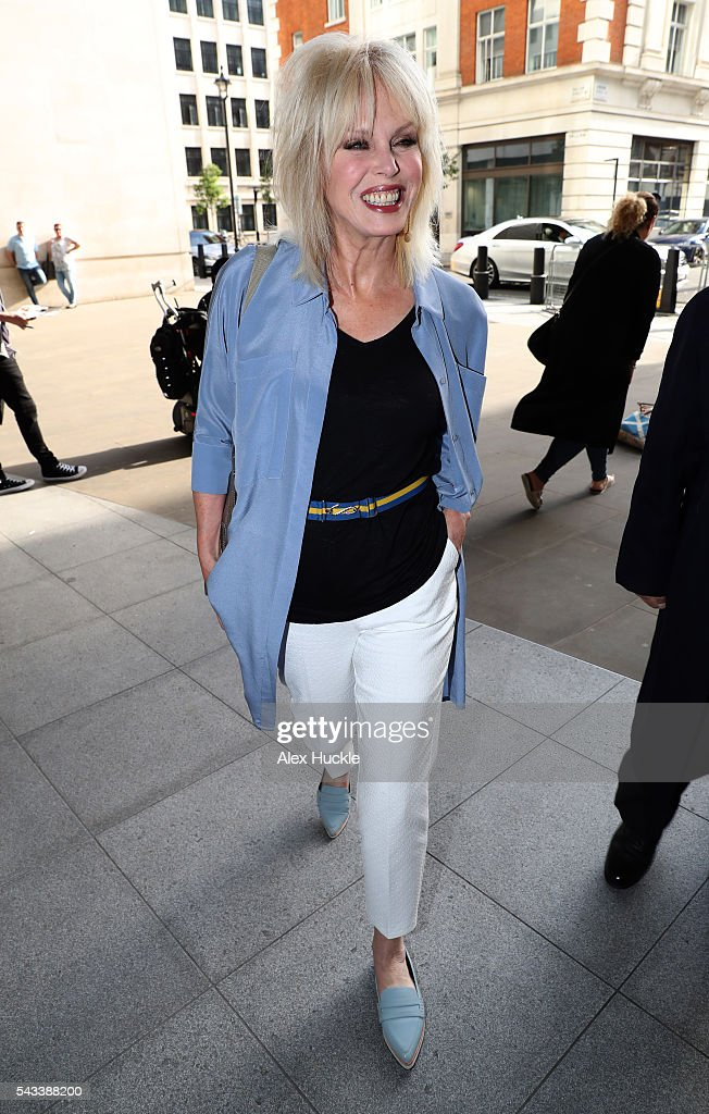 <a gi-track='captionPersonalityLinkClicked' href=/galleries/search?phrase=Joanna+Lumley&family=editorial&specificpeople=206307 ng-click='$event.stopPropagation()'>Joanna Lumley</a> seen arriving at the BBC Radio 1 Studios on June 28, 2016 in London, England.