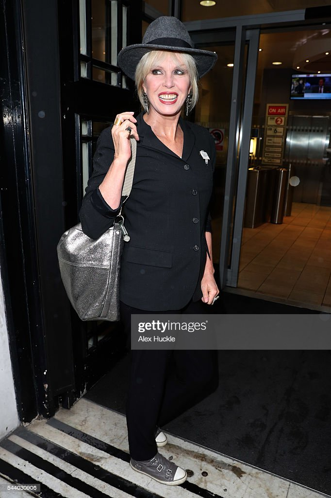 <a gi-track='captionPersonalityLinkClicked' href=/galleries/search?phrase=Joanna+Lumley&family=editorial&specificpeople=206307 ng-click='$event.stopPropagation()'>Joanna Lumley</a> seen arriving at the BBC Radio 2 Studios on July 1, 2016 in London, England.