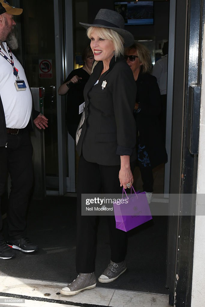 <a gi-track='captionPersonalityLinkClicked' href=/galleries/search?phrase=Joanna+Lumley&family=editorial&specificpeople=206307 ng-click='$event.stopPropagation()'>Joanna Lumley</a> seen at BBC Radio 2 on July 1, 2016 in London, England.