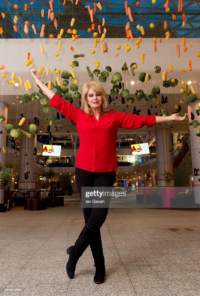 <a gi-track='captionPersonalityLinkClicked' href=/galleries/search?phrase=Joanna+Lumley&family=editorial&specificpeople=206307 ng-click='$event.stopPropagation()'>Joanna Lumley</a> unveils the Marks and Spencer 'Eat The Rainbow' Installation at Westfield London on January 16, 2015 in London, England.