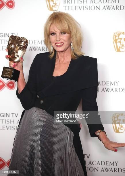 Joanna Lumley winner of the BAFTA Fellowship Award poses in the Winner's room at the Virgin TV BAFTA Television Awards at The Royal Festival Hall on...
