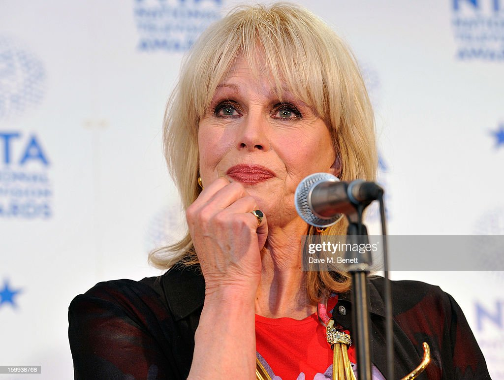 <a gi-track='captionPersonalityLinkClicked' href=/galleries/search?phrase=Joanna+Lumley&family=editorial&specificpeople=206307 ng-click='$event.stopPropagation()'>Joanna Lumley</a>, winner of the Special Recognition Award, poses in the Winners room at the National Television Awards at 02 Arena on January 23, 2013 in London, England.