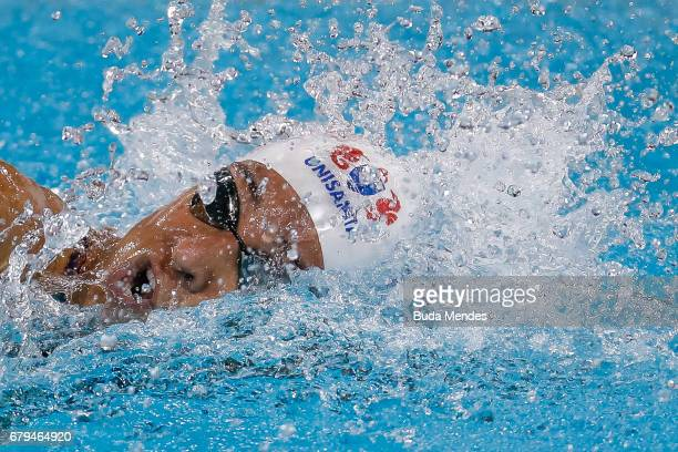Joanna Maranhao of Brazil competes in the Women's 400m Medley final during Maria Lenk Swimming Trophy 2017 Day 4 at Maria Lenk Aquatics Centre on May...