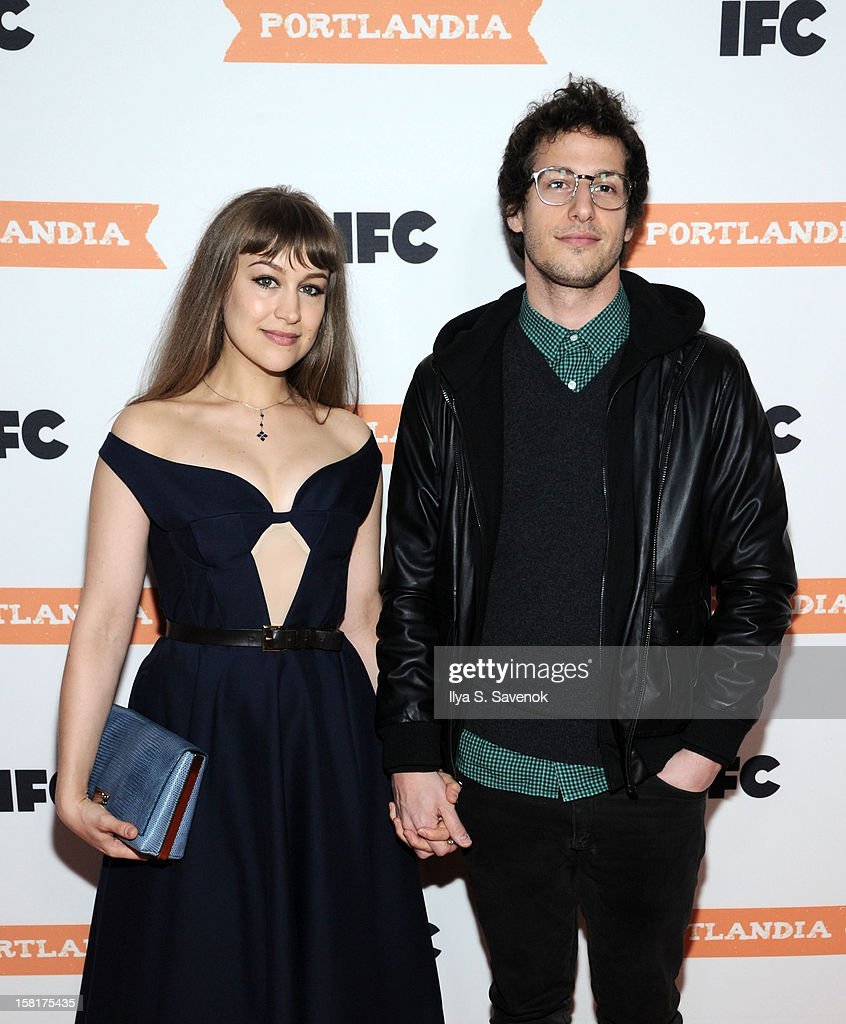 <a gi-track='captionPersonalityLinkClicked' href=/galleries/search?phrase=Joanna+Newsom&family=editorial&specificpeople=4184073 ng-click='$event.stopPropagation()'>Joanna Newsom</a> and <a gi-track='captionPersonalityLinkClicked' href=/galleries/search?phrase=Andy+Samberg&family=editorial&specificpeople=595651 ng-click='$event.stopPropagation()'>Andy Samberg</a> attend IFC's 'Portlandia' Season 3 New York Premiere at American Museum of Natural History on December 10, 2012 in New York City.
