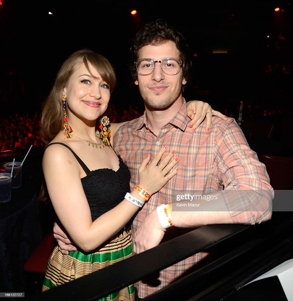 Joanna Newsom and Andy Samberg attend MasterCard Priceless Premieres presents Justin Timberlake exclusive New York performance at Roseland Ballroom on May 5, 2013 in New York City.