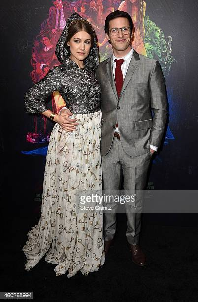 Joanna Newsom and Andy Samberg attends the premiere of Warner Bros Pictures' 'Inherent Vice' at TCL Chinese Theatre on December 10 2014 in Hollywood...