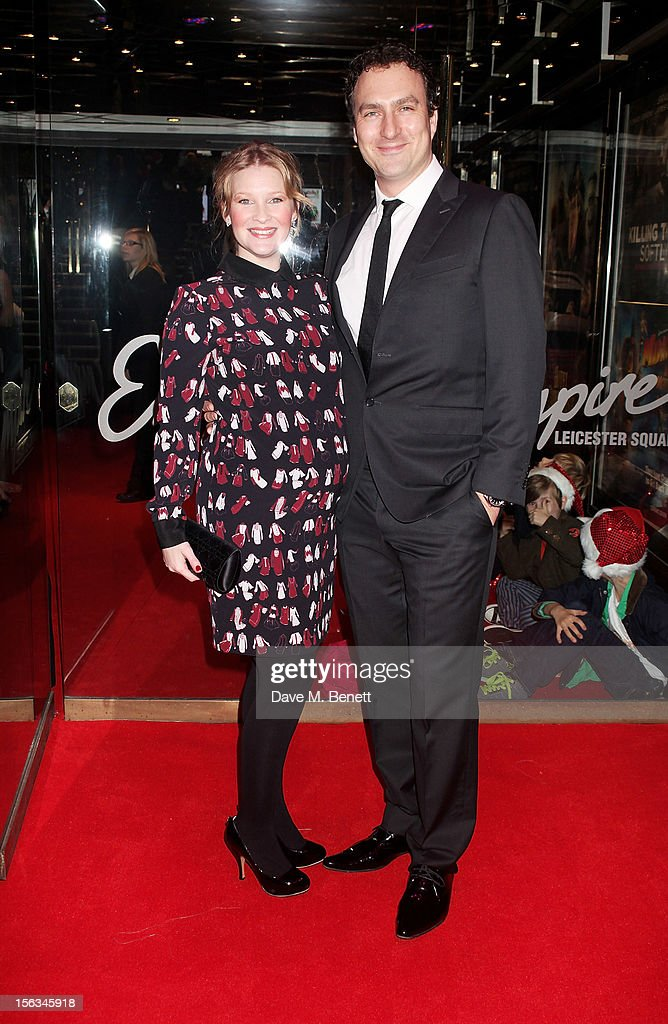 Joanna Page (L) and <a gi-track='captionPersonalityLinkClicked' href=/galleries/search?phrase=James+Thornton&family=editorial&specificpeople=749528 ng-click='$event.stopPropagation()'>James Thornton</a> attend the 'Nativity 2: Danger In The Manger' premiere at Empire Leicester Square on November 13, 2012 in London, England.
