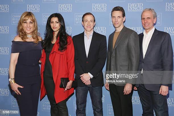 Joanna Plafsky Reshma Shetty Michael Rauch Ben Shenkman and Bob Roth attend An Amazing Night of Comedy A David Lynch Foundation Benefit for veterans...