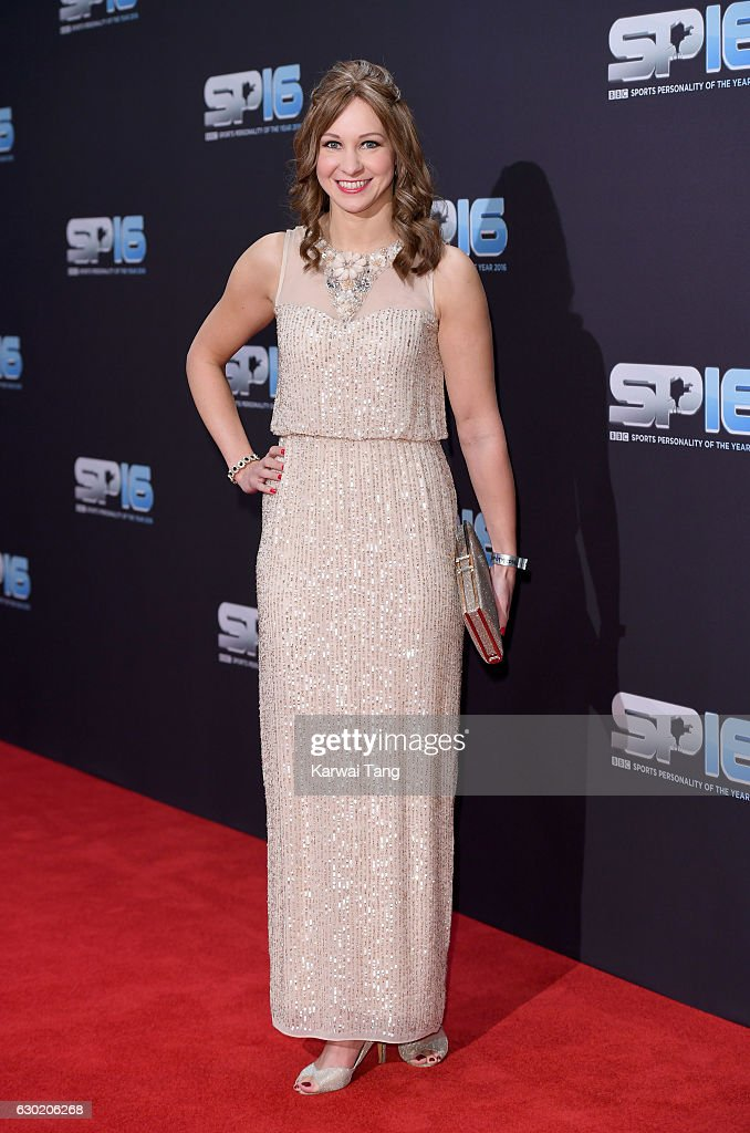 Joanna Rowsell attends the BBC Sports Personality Of The Year at Resorts World on December 18, 2016 in Birmingham, United Kingdom.