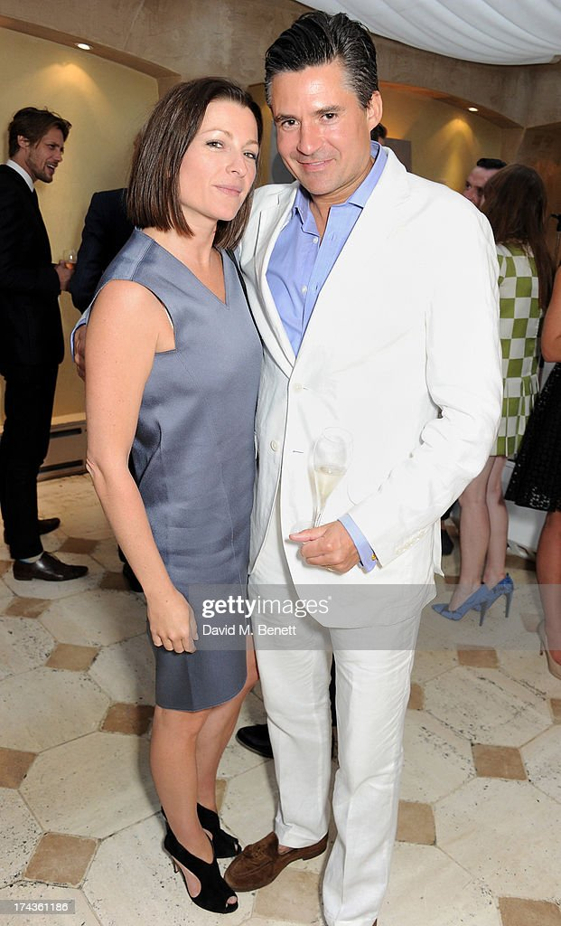 Joanna Sykes (L) and Ed Taylor attend an evening of dinner and dancing at Daphne's on July 24, 2013 in London, England.