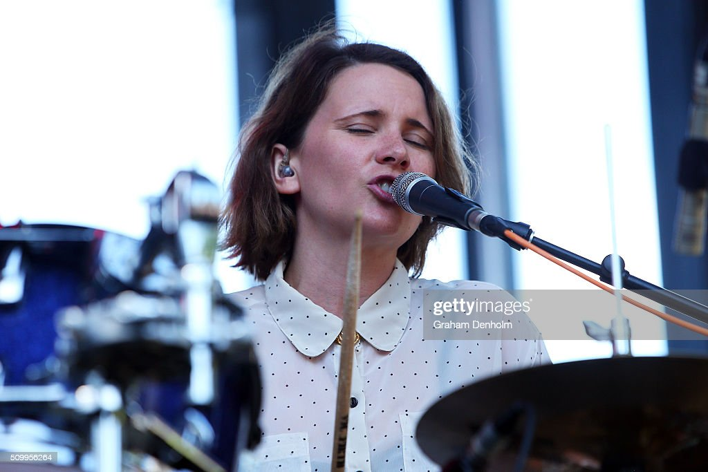 Joanna Syme of Big Scary performs at St Jerome's Laneway Festival on February 13, 2016 in Melbourne, Australia.