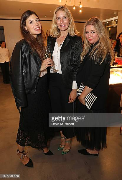 Joanna Taylor Amy Williams and Sasha Wilkins attend an intimate dinner hosted by Monica Vinader to celebrate Fashion Artist Jenny Walton's...
