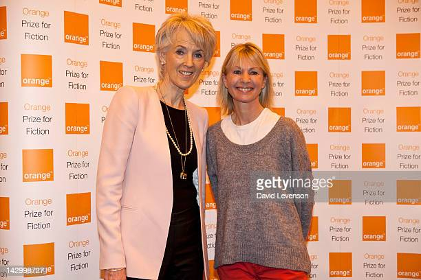 Joanna Trollope and Kate Mosse authors and Chair of the judges for the Orange Prize for Fiction Award 2012 announce the six shortlisted novels by Esi...