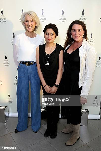 Joanna Trollope Shami Chakrabarti and Bettany Hughes celebrate the Baileys Women's Prize for Fiction 2015 Shortlist announcement at The Magazine...
