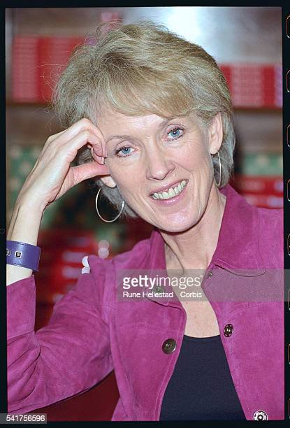 Joanna Trollope visits Hatchard's bookstore in London on February 5 2002