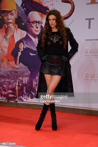 Joanna Tuczynska attends 'Kingsman The Secret Service' German Premiere at CineStar on February 3 2015 in Berlin Germany
