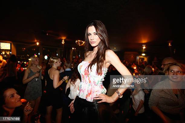Joanna Tuczynska attends the after show party to the 'The Mortal Instruments City of Bones' Germany premiere at Puro Lounge on August 20 2013 in...