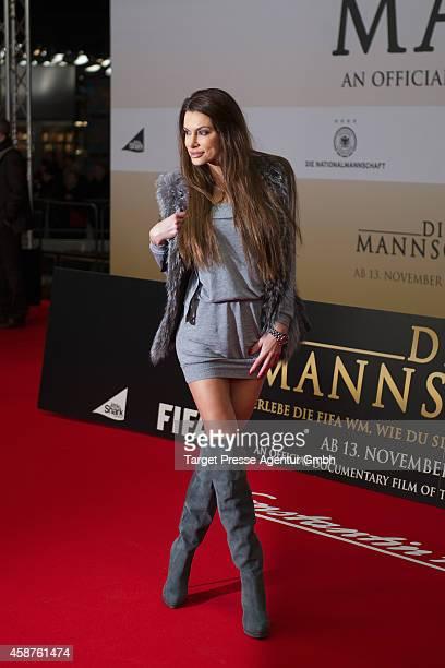 Joanna Tuczynska attends the 'Die Mannschaft' premiere at Potsdamer Platz on November 10 2014 in Berlin Germany