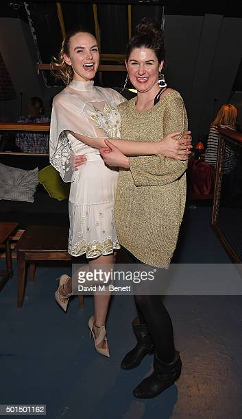 Joanna Vanderham and Emily Dobbs attend an after party following the press night performance of 'The Dazzle' at FOUND111 on December 15 2015 in...