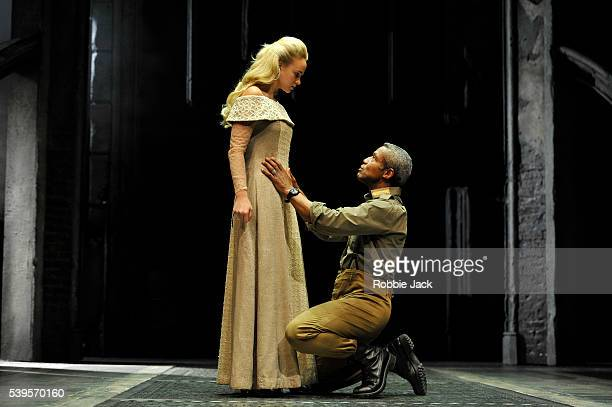 Joanna Vanderham as Desdemona and Hugh Quarshie as Othello in the Royal Shakespeare Company's production of William Shakespeare's Othello directed by...