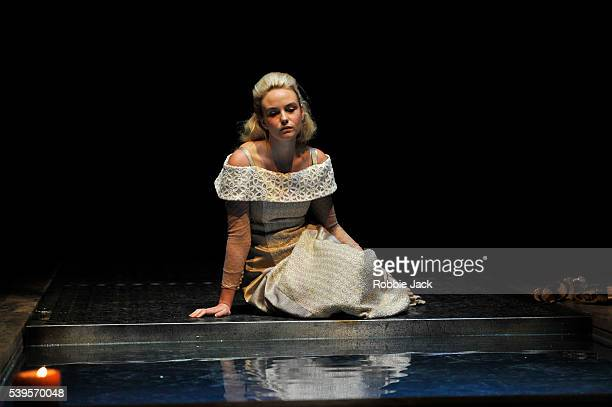 Joanna Vanderham as Desdemona in the Royal Shakespeare Company's production of William Shakespeare's Othello directed by Iqbal Khan at the Royal...