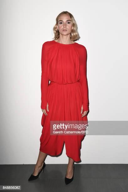 Joanna Vanderham attends the Antonio Berardi show during London Fashion Week September 2017 on September 18 2017 in London England