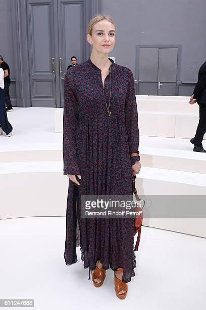Joanna Vanderham attends the Chloe show as part of the Paris Fashion Week Womenswear Spring/Summer 2017 on September 29 2016 in Paris France