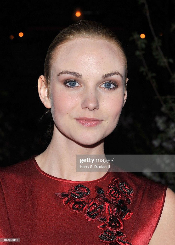 Joanna Vanderham attends The Cinema Society With Tod's & GQ screening of Millennium Entertainment's 'What Maisie Knew' after party at Gallow Green at the McKittrick Hotel on May 2, 2013 in New York City.
