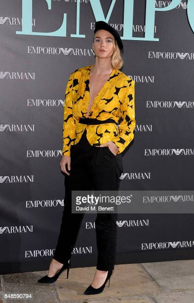 Joanna Vanderham attends the Emporio Armani Party on September 17 2017 in London England