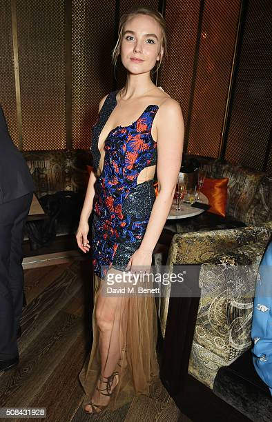 Joanna Vanderham attends the InStyle EE Rising Star party ahead of the EE BAFTA Awards at 100 Wardour St on February 4 2016 in London England