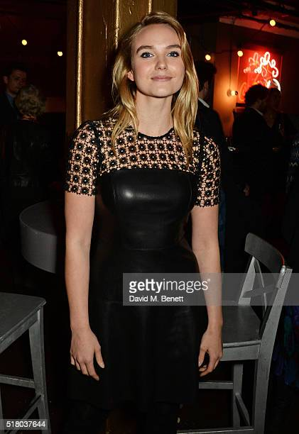 Joanna Vanderham attends the press night performance of 'Bug' at Found111 on March 29 2016 in London England