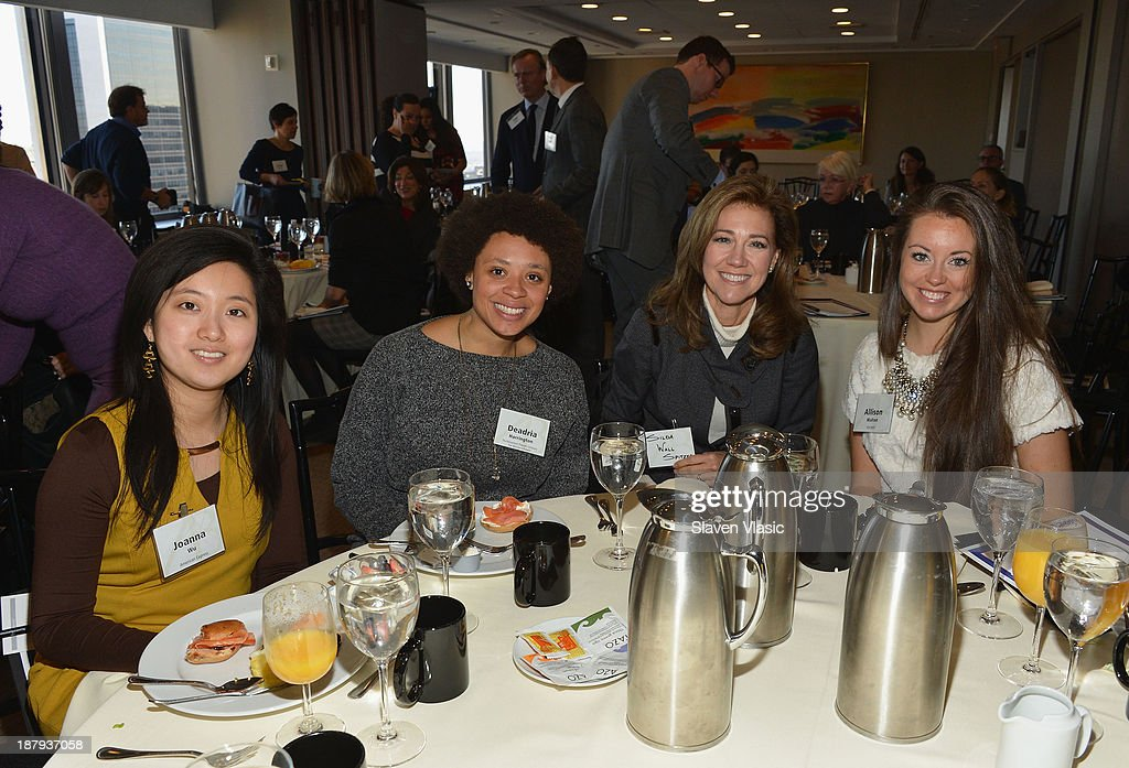 Joanna Wu Deadria Harrington Silda Wall Spitzer and Allison Walton attend The Business of Philanthropy panel hosted by Gotham Magazine on November 13...