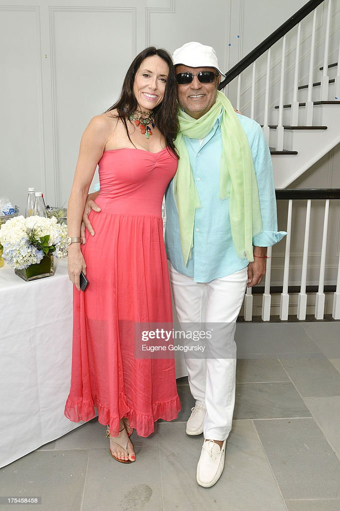 Joanne Blessinger and Ellie Tahari attend the Hamptons Magazine Celebrates With Cover Stars, Jonathan Adler And Simon Doonan at Day Lily Estate on August 3, 2013 in Bridgehampton, New York.