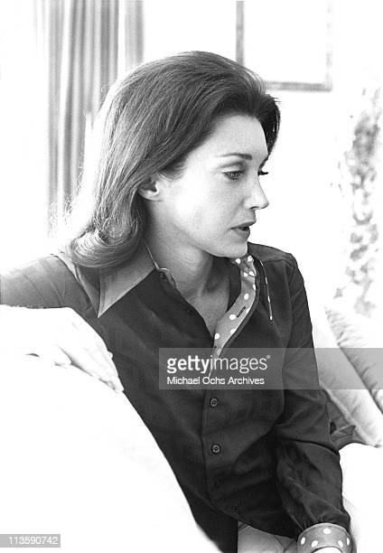 Joanne Carson former wife of Johnny Carson host of the Tonight Show poses for a portrait at home in June 1972 in Los Angeles California