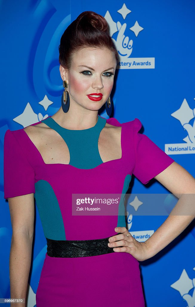 Joanne Clifton arriving at the National Lottery Awards at the London Television Centre in London